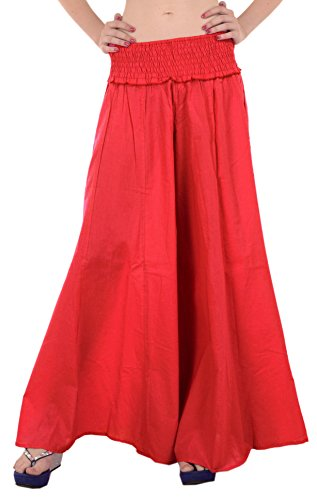 SNS Pure Cotton Long Plazzo Pant Trouser by Skirts 'N Scarves