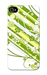 Abstract Flowers Custom White Hard Back for SamSung Galaxy S4 Mini Yang's Case