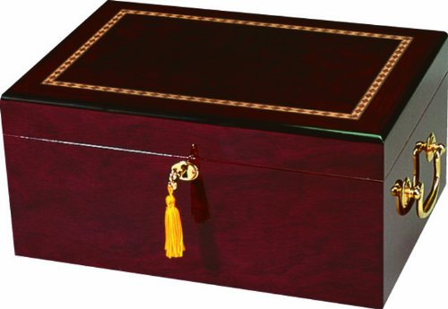 Quality Importers Alhambra 100 Cigar High Gloss Humidor, Maple Finish (High Gloss Finish Humidor)