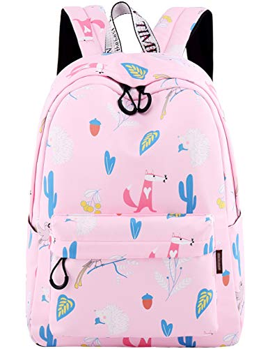 - Backpack for Teens, Fashion Cartoon Animal Fox Hedgehog Patterns Laptop Backpack College Bags Women Shoulder Bag Daypack Bookbags Travel Bag by Mygreen (Pink)