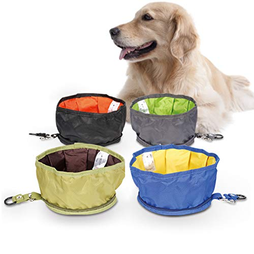 Gogobuddy Collapsible Dog Bowl, 4 Packs Portable Travel Pet Bowls Outdoor Food or Water Feeding Bowls for Dogs and Cats Camping Hiking Walking Running