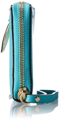 Kate Spade PWRU3719-414 Women's Cherry Lane Laurie Zip-Around Wristlet Surprise Coral Leather Wallet