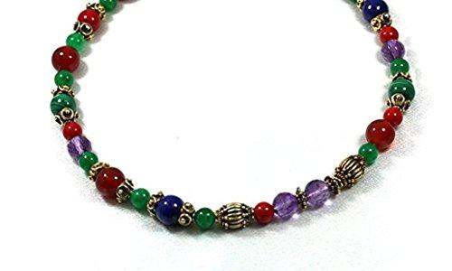 Necklaces Lapis Carnelian Coral Malachite Ametyst Indian Beads (Coral Malachite Necklace)