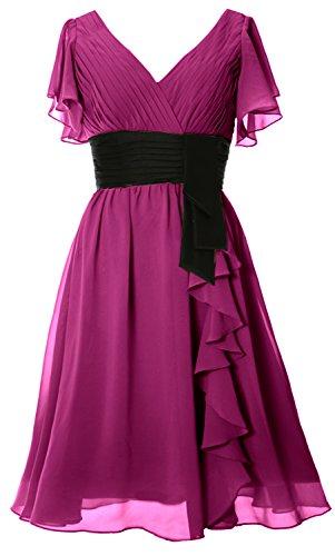 Cocktail MACloth Short Formal Neck Gown Mother V Dress Elegant Sleeve Bride of Begonia wfCqRTF
