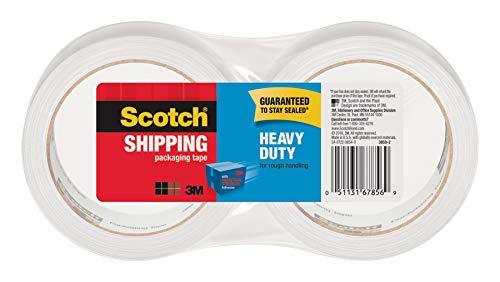 - Scotch Heavy Duty Shipping Packaging Tape, 3