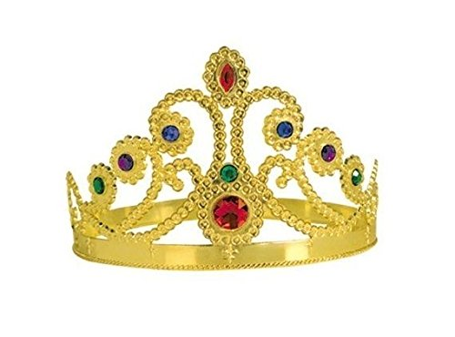 Price comparison product image Gold Adjustable King and Queen Crown