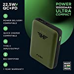 URBN 10000 mAh 22.5W Super Fast Charging Power Bank with 22.5W Type C PD (Input& Output) and QC 3.0 Dual USB Output with…