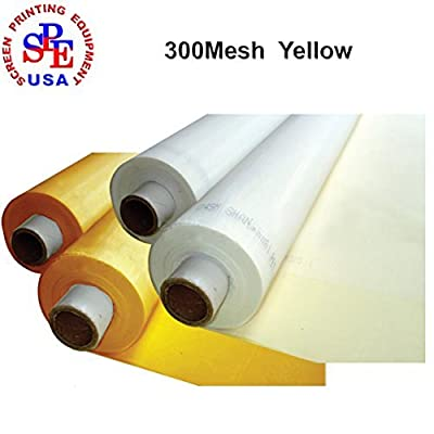 1 Yard 300 Mesh Count Silk Screen Printing Mesh Fabric Polyester Yellow Material