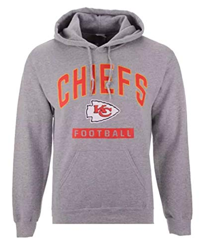 Kansas City Chiefs Men's Size 2X-Large Team Sweatshirt Fleece Hoodie - Ash Gray ()