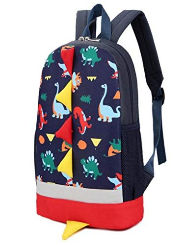 Girls Vpass Kids Animals Boys School Bag Casual Pattern Dinosaur Toddler Baby Slim Dark Leather Backpack Blue Student Ix4wf