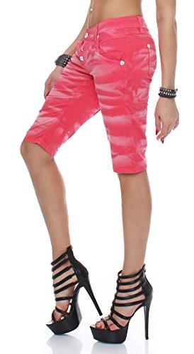 Shorts Jeans Mania Rouge Monkey Blue Féminin Bm35558 p Capri f6I5qw