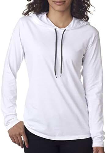 Yoga Clothing For You Ladies Lightweight Hoodie White Tee Shirt