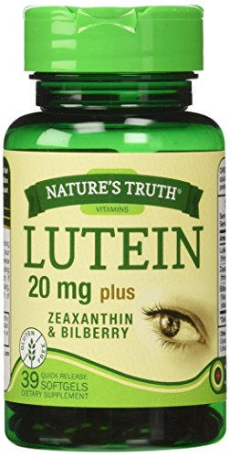 Nature's Truth Lutein 20 mg Plus Zeaxanthin and Bilberry Capsules, 39 Count by Nature's Truth (Image #7)