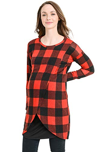 Hello MIZ Women's Sweater Knit Long Sleeve Maternity Nursing