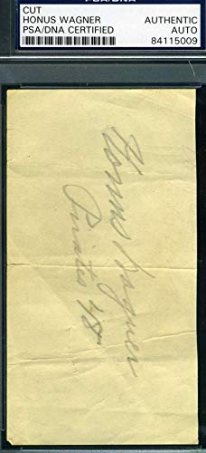 HONUS WAGNER PSA DNA COA Autograph 3x5 Cut Signed Index Card
