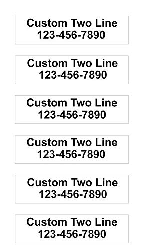 6 Pack Customized 2-Line Metal Rider Signs - 6