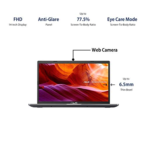 ASUS VivoBook 14 Intel Core i3-1005G1 10th Gen 14-inch FHD Compact and Light Laptop (4GB RAM/1TB HDD/Windows 10/Integrated Graphics/Slate Grey/1.60 kg), X409JA-EK011T