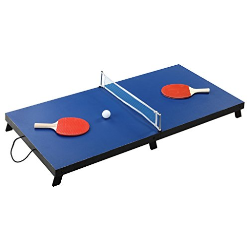 Hathaway BG1025T Drop Shot 42-in Folding Portable Table Tennis Set - Includes Accessories, Black