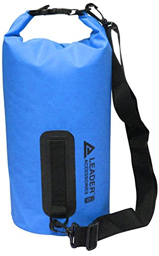 Leader Accessories New Heavy Duty Vinyl Waterproof Dry Bag for Boating Kayaking Fishing Rafting Swimming Floating and Camping (Blue, 55L)