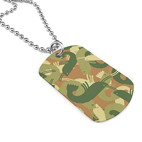 (Shadidi Necklace Military Shrimp Camouflage Army Style Men Military Pendant Dog Tag Pendant Necklace Gift)