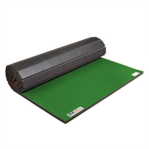 IncStores Roll Out Wrestling and Tumbling Mats (Green, 5 ft x 10 ft x 1-1/4 in)