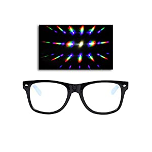 EmazingLights Diffraction Prism Rave Glasses (Black)
