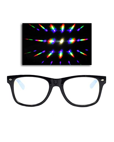[Emazing Lights Diffraction Prism Rave Glasses (Black)] (Edc Costumes Men)