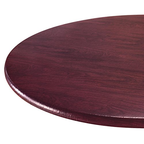 Wood Grain Vinyl Elastic Table Cover by Miles Kimball