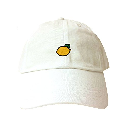 Go All Out Adjustable White Adult Lemon Embroidered Dad Hat for $<!--$9.95-->