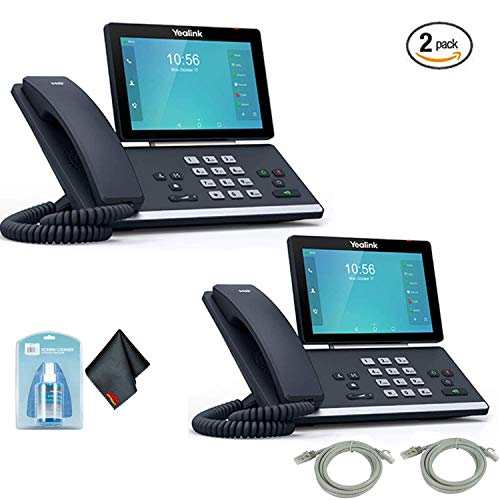 Price comparison product image YEALINK SIP-T58A Smart Media Android HD Phones- 2 Pack- with Ethernet Cables