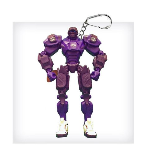 "Baltimore Ravens 3"" Team Cleatus FOX Robot NFL Football Key Chain Version 2.0"