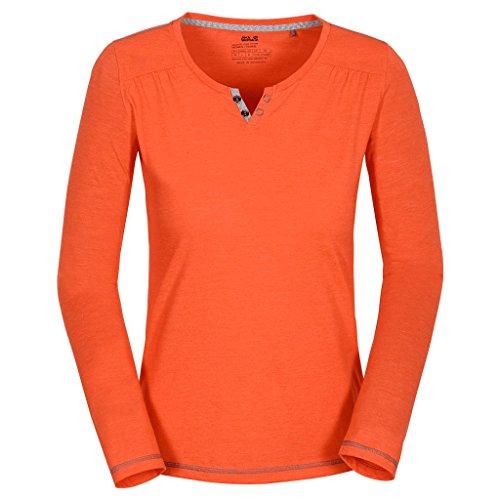 Jack Wolfskin Mujer Función Camiseta, color Marrón - watercress blossom, tamaño XS Marrón - watercress blossom