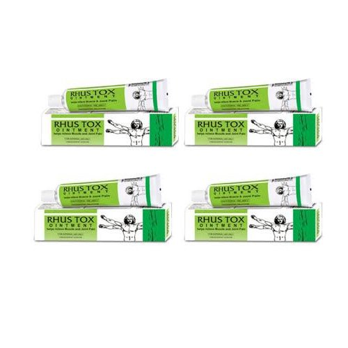 - 4 X Bakson's Homeopathy - Rhus Tox Ointment Bleeding Piles.