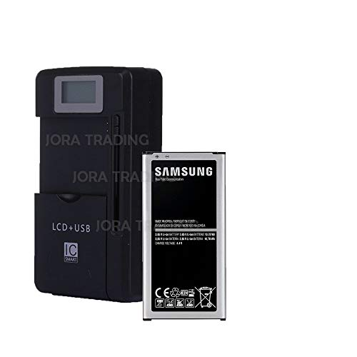 (OEM Battery EB-BJ710CBU for Samsung Galaxy J7 (2017) | J7 Perx | J7 Sky Pro | J710 | J727 w/Universal LCD Battery Charger + USB-Port (Adjustable Dock) in Non-Retail Packaging)