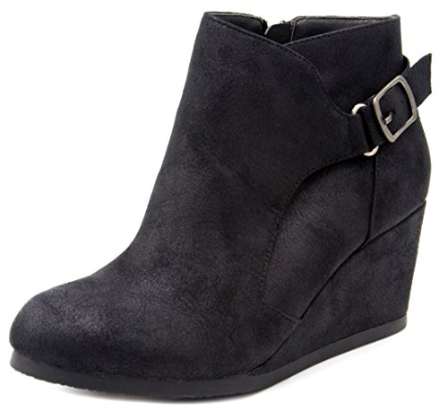 Pictures of London Fog Womens Martha Wedged Ankle Bootie 1