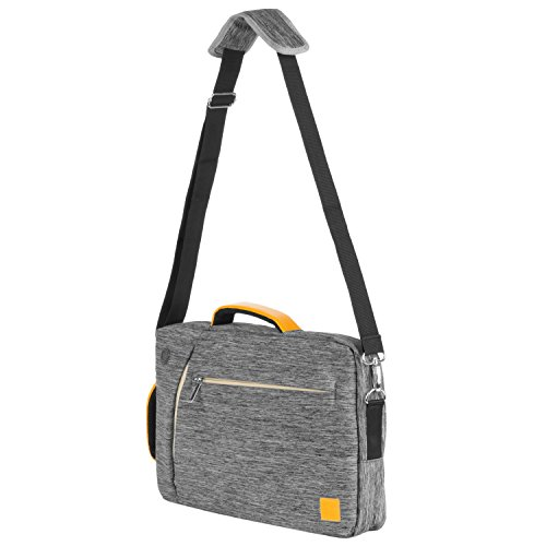VanGoddy Universal Canvas Hybird Tote/Messenger/Backpack/Briefcase, 4-in-1 Multipurpose Laptop Carrying Bag (Grey) (15.6