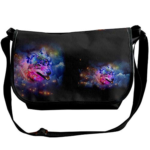 Wolf Bag Designer Travel Galaxy Bags Space Colorful Fashion Messenger Handbags Black Sling Womens 0RExpq