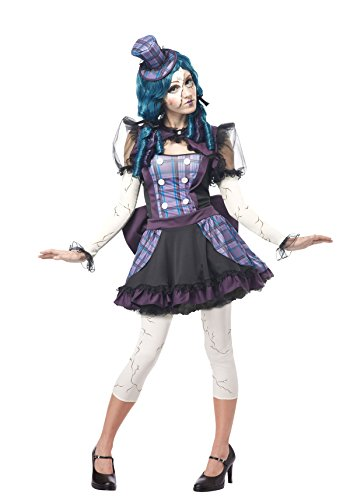 California Costumes Women's Broken Doll Sexy Creepy Steampunk Victorian Costume, Black/Purple, -