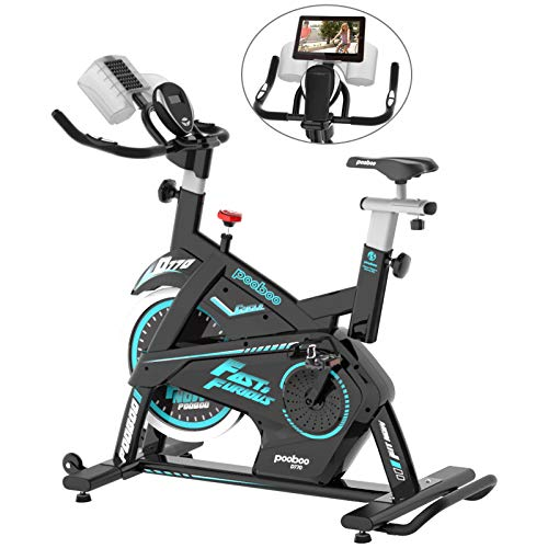 pooboo Magnetic Exercise Bike Stationary 330 Lbs Weight Capacity Indoor Cycling Bike, Cycling Bike with Pad/Phone Mount…