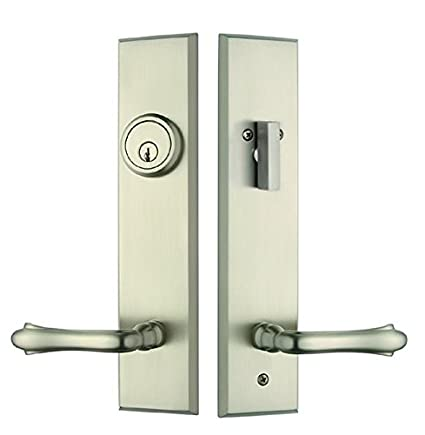 Superieur Rockwell Verano Entry Door Lock Handle Set With Bourne Lever In Brushed  Nickel Finish, Durable