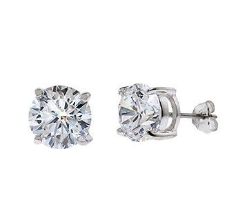 b085412d3 CZ EAR600-25-BASKET .25Ct Tw Cubic Zirconia Diamond Basket Setting - .925 -  Sterling Silver Stud Earrings: Amazon.co.uk: Welcome