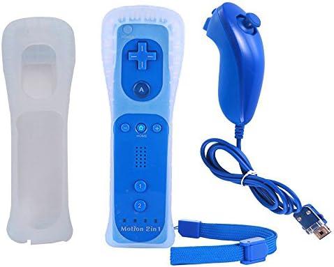 YiYunTE 2 en 1 Mando Plus con Motion Plus y Nunchunk Wii con Funda de Silicona: Amazon.es: Electrónica