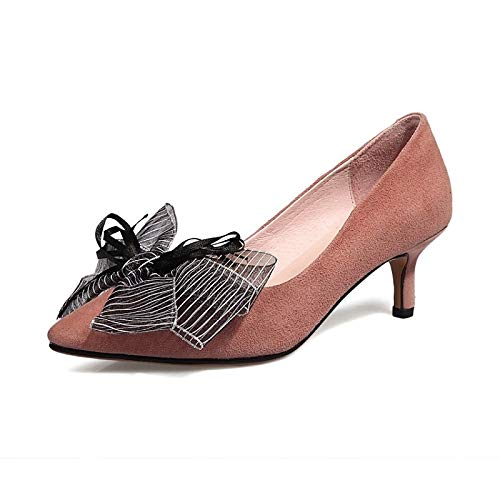 Shoes Spring Black Suede Women's Stiletto Pink amp; Heel Black ZHZNVX Heels Comfort Summer q5UAxwwT