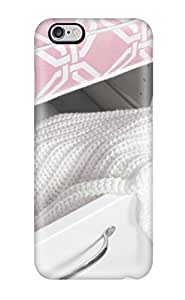 Cute Tpu Cynthaskey White Drawer With Pink Top 038 White Knit Coverlet Case Cover For Iphone 6 Plus WANGJING JINDA