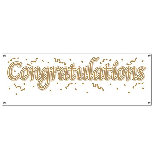 (Congratulations Blank Sign Banner Party Accessory (1 count) (1/Pkg))