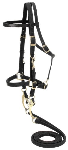 Tough 1 Australian Outrider Collection Nylon Bridle/Halter, Black ()
