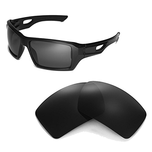 Walleva Replacement Lenses for Oakley Eyepatch 2 Sunglasses -Multiple Options (Black - Polarized)