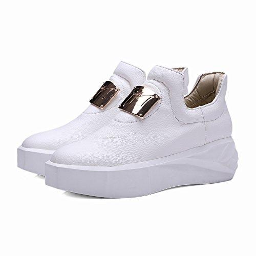 Zapatos Casuales Cabeza Redonda Corbata Zapatos Blancos Pequeños Zapatos Holgados Inferiores Gruesos Zapatos Perezosos Británicos , negro , EUR35