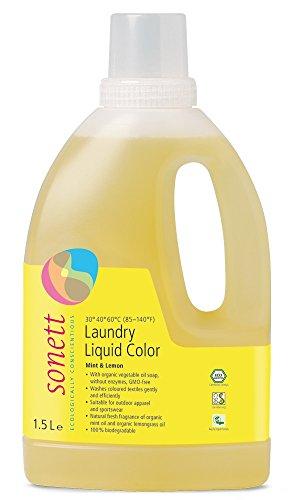 Sonett Organic Laundry Liquid Detergents, Mint & Lemon, Lavender and Sensitive. (Mint & Lemon, 1 Count)