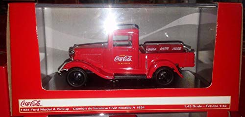 BHCAT Coca-Cola 1934 Ford Model A Pickup Truck Diecast 1:43 Motor City 5 inch 443743